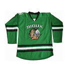Mens Hockey Jersey North Dakota Fighting Sioux Coa Green Football Jersey with N