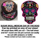 Mexican Black Sugar Skull Edible Cake Topper Image Cupcakes Day of the Dead Cake