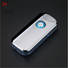 Dual Arc Plasma Pulse Rechargeable USB Cigarette Windproof Lighter Flip up gifts