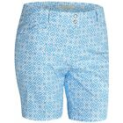Внешний вид - New Adidas Ladies Printed Golf Shorts Bahia Blue Womens Size 2 4 6 8 10 12