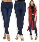 Women's Slim Fit Jeans Jeggings with Tie Elasticated Waistband UK Size 8, 10, 16