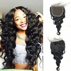 "5x5""  Lace Closure Loose Wave Brazilian Human Virgin Hair With Natural Hairline"