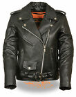 Motorcycle women's Biker Terminator Leather jacket with silver zipper hardware