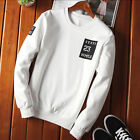 Mens Autumn Outwear Casual Slim With NO 23 Mark Paint Solid Sweater Pillover Top