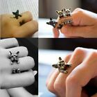 Adjustable  Rings Chihuahua Puppy Dog Pet Ring Animal Vintage Wrap Ring
