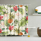 Folk Style Polyester Bathroom Curtain Decorative Shower Curtain Liner Hooks