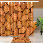 Hand Painted Fruit Almond Nuts Waterproof Fabric Shower Curtain Bathroom 71Inch