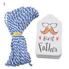50PCs Paper Tags String DIY Craft Label Party Favor Christmas Decoration New