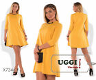 Elegant Woman Dress Knitted fabric Above Knee 3/4 Sleeve Casual- Plus size