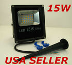 12V Low Voltage 15W Warm Soft White LED Slim Flood Landscape Garden Light