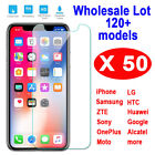 50X 0.3mm 9H Tempered Glass Screen Protector For iPhone LG MOTO Samsung HTC Sony
