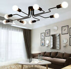 Industrial Retro Semi Flush Mount Ceiling Lights Pendant Lamp Steampunk Fixture