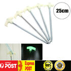 Glow In The Dark Outdoor Camping Tent Pegs Steel Screw in Ground Stakes Pin Bulk
