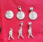 ANTIQUE SILVER ZOMBIE CHARM OR NECKLACE - KEEP CALM AND KILL ZOMBIES - DEAD