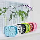 New Candy Color Alarm Clock Battery Silent Home Desk Table Snooze Analog Clock