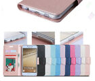 Fashion Magnetic Leather Stand Card Wallet Flip Case For Huawei HTC Phones