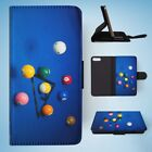 SNOOKER POOL TABLE BALLS 3 FLIP WALLET CASE COVER FOR IPHONE 7 PLUS $11.46 USD