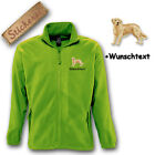 Fleece Jacket Embroidered Embroidery Dog Golden Retriever M1 + Desired Text