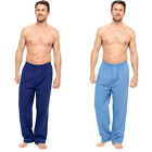 MENS TWIN PACK TRADITIONAL PYJAMA BOTTOMS ELASTICATED WAIST BUTTON FLY NEW