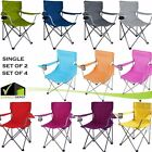 Ozark Folding Camping Comfort Chair Steel Frame Outdoor Picnic Backyard Lawn