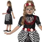 Girls Day of The Dead Sugar Skulls Halloween Skeleton dressing up costume outfit
