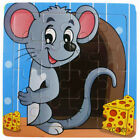 DIY Wooden Cartoon Animals Puzzle Jigsaw Training Education Baby Kids Toy