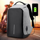 Anti-Theft Backpack Laptop Sport Travel Haking Oxford Bags + USB Charging New