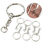 Fashion Keyring Blanks Hot Key Chains Silver Tone Findings Sets Fob Steel