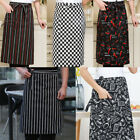 Kitchen Aprons Half-length Long Waist Apron Catering Chefs Waiters With pockets