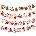 Christmas Santa Claus Bunting Paper Banner 2018 New Years Eve Party Ornaments