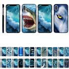 For Apple iPhone X / iPhone 10 Slim Hard Cover Clip On Case w/ Blue Color Edges