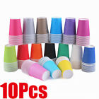 10pcs Paper Cups Plain Solid Color for Birthday Festival Party Supply-14 color