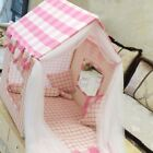 New Pink Princess Handmade Curtain Pet Dog Cat Bed House Sofa Tent Frame Bed L
