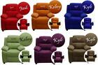 PERSONALIZED Children's CONTEMPORARY RECLINER with Storage Arms MICROFIBER