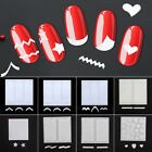 French Manicure Nail Art Tip Guides Stickers, Nail Stencil -Striping heart star