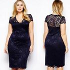 Womens Ladies Bodycon Midi Lace Pencil Cocktail Party Evening Dress 16-22 A028 <br/> Fast &amp; Free UK Post*Same Day Dispatch*Excellet Quality