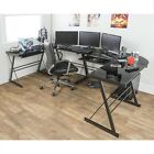 Corner Goblet Desk Black Modern Style Home CPU Stand Gaming Desk Contemporary NEW