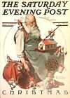 VTG Norman Rockwell Art Print Saturday Evening Post CHRISTMAS *** SEE VARIETY