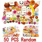 50Pcs Squishy Fast food&Rilakkuma Squeeze Charms Slow Rising Toy Collection UK
