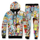 2017 Man and Women Rick and Morty Carton Hoodie Jumpler Jacket Tops Sweate Pants