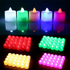 5PC Multi Color LED Tea Lights Candles Party Decor Battery Candles