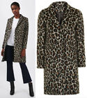 TOPSHOP Leopard Print Coat Jacket Sizes 6 to 14