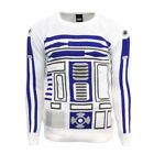 R2-D2 Official Star Wars White & Blue Knitted Jumper / Sweater £14.99 GBP