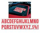 5 1/2 Inch Red & White Alphabet Car Dealer Windshield Pricing Stickers You Pick