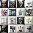 Skull Painting Throw Pillow Cover Zipper Cushion Case Room S