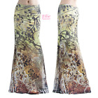 Women's LONG SKIRT Floral Ornate Brown Maxi (S/M/L/XL/1XL/2XL/3XL)