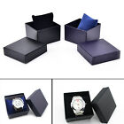 PU+Paper Watch Storage Case Box Wristwatch Wooden Men Women New Gift RDUJ