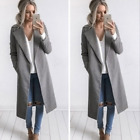UK Womens Winter Warm Casual Cardigan Jacket Coat Long Woolen Sweatshirt Outwear