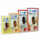 T-Sac 100 pack Disposable Loose Leaf Tea Filter Infuser Bag - 4 Sizes Available