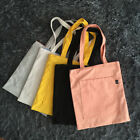 Contrast Color Canvas Shopping Tote Shoulder Bag Magnetic Snap Outer Pocket z  S